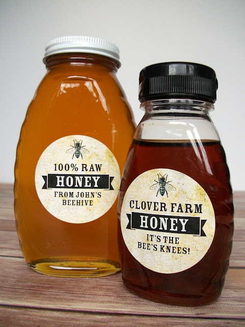 custom vintage honey bottle labels
