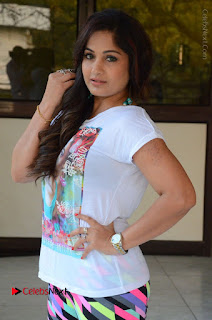 Actress Madhavi Latha Latest Stills at Swachh Hyderabad Cricket Press Meet  0011.JPG