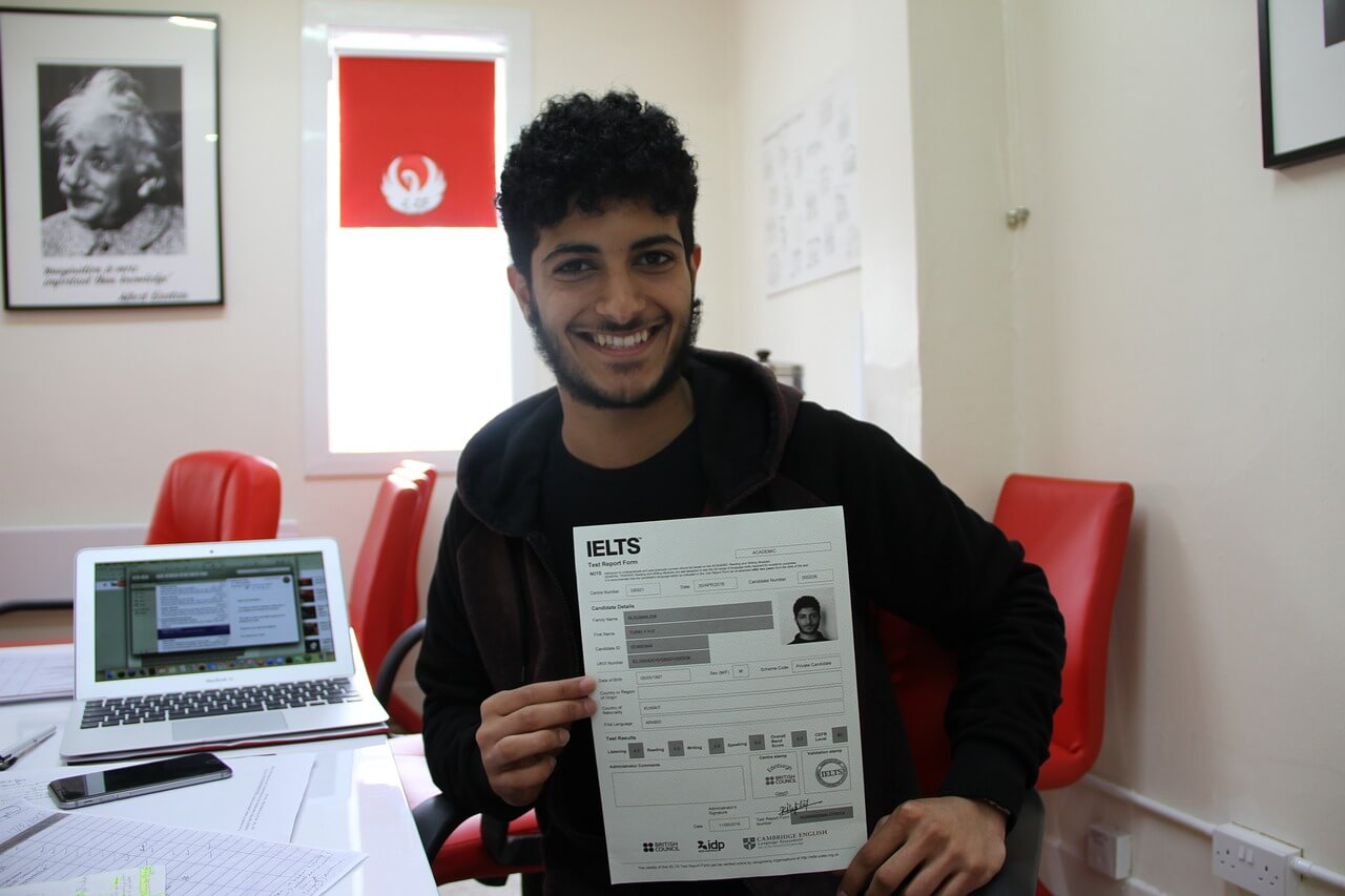IELTS Result of a boy