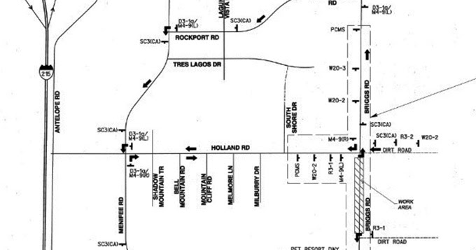 portion of briggs road to close for construction