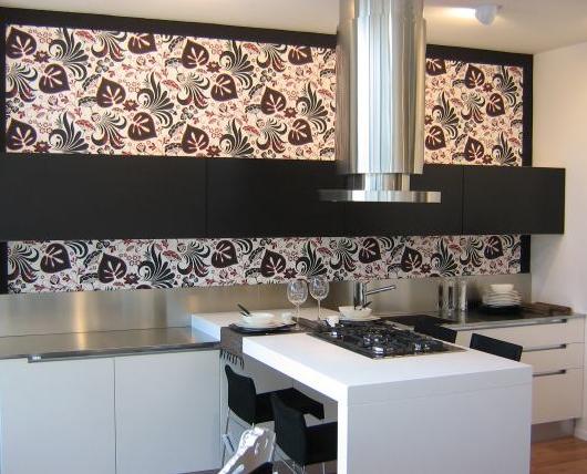 Papel pintado en la cocina para despertar emociones - Papel para forrar muebles de cocina ...