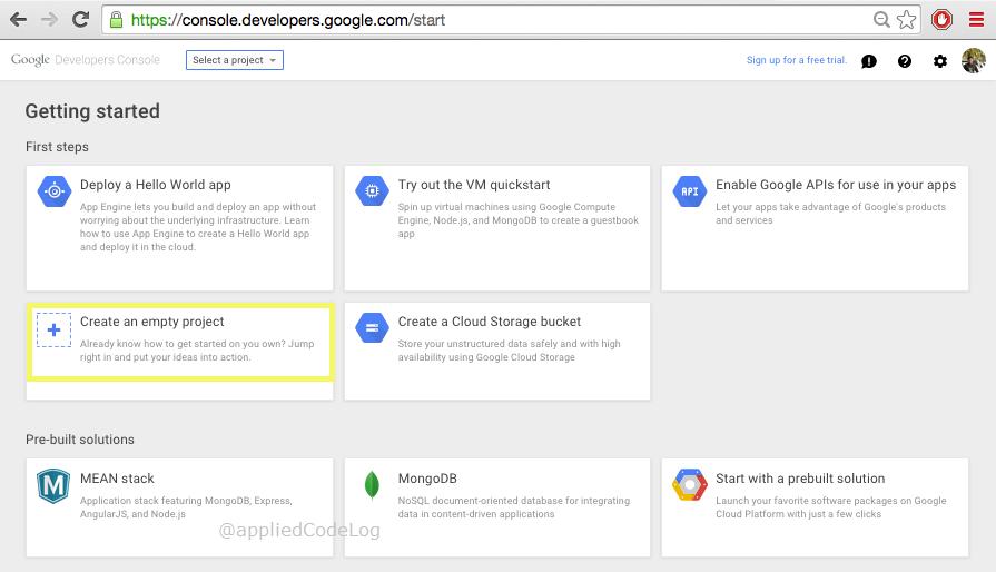 Google Cloud Node Js Hello World