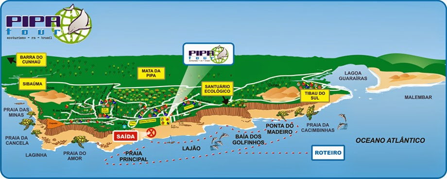 praia do barril mapa Praia da Pipa   Da praia do Curral até a Barra do Cunhau praia do barril mapa