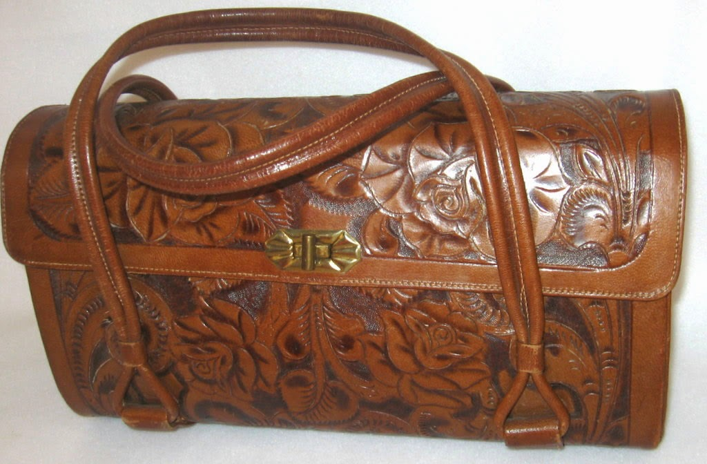 Western Vintage Tooled Leather Purse
