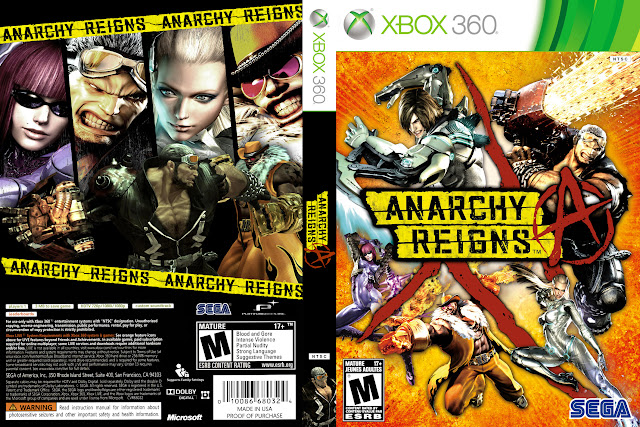 Capa xBox360 Anarchy Reigns