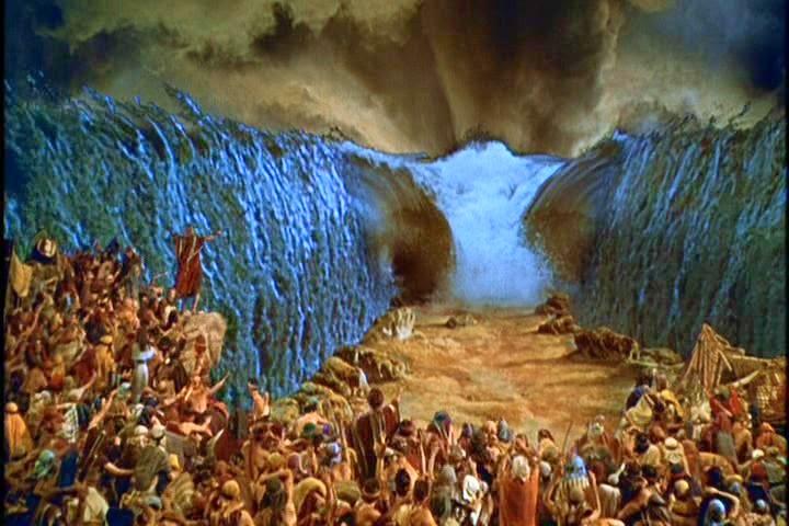 Moisés abrindo o mar Vermelho