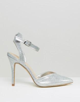 diseños de Zapatos de Fiesta Plateados