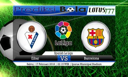 PREDIKSI  SKOR  Eibar vs Barcelona FC  17 Februari 2018
