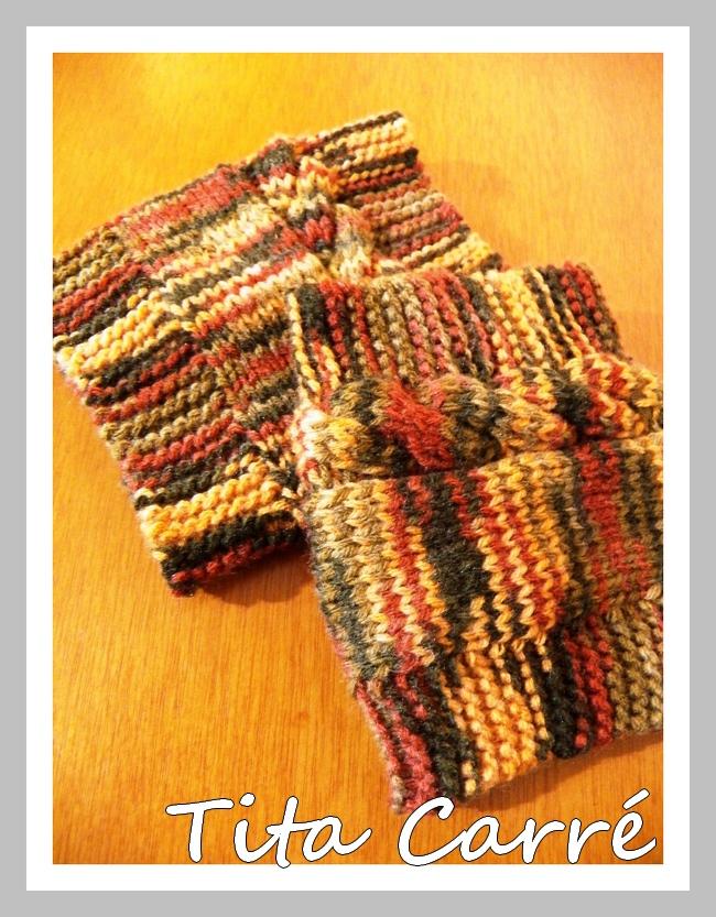 Boots Cuffs em tons de terra em tricot