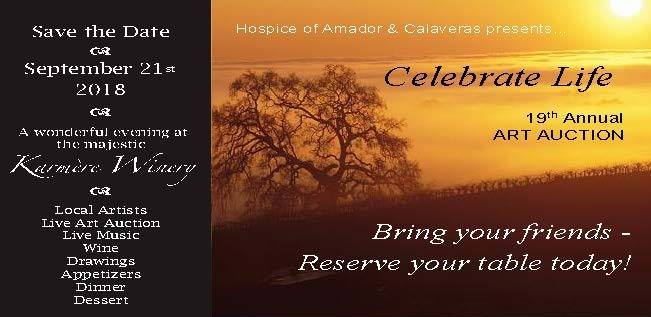 Hospice of Amador & Calaveras: Art on the Lawn - Fri Sept 21