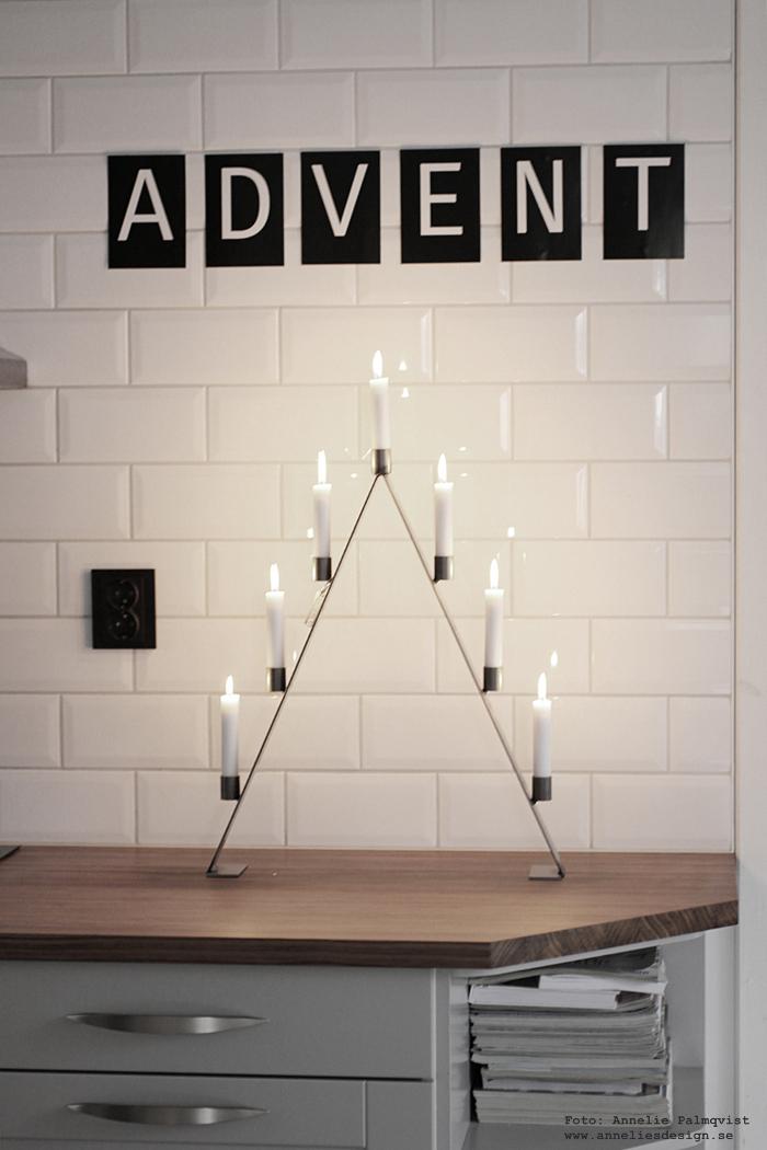 adventsljusstake, annelies design, kök, grafitgrå, bokstäver, vykort, advent, inredning, webbutik, webshop, nätbutik, inredningsbutik, varberg,