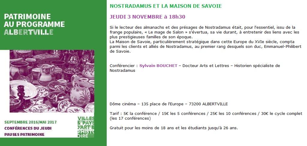 Nostradamus et la Maison de Savoie - Conférence