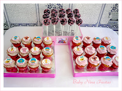 minicupcakes y cakepops pocoyo