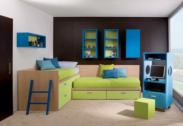 Contoh desain milimalis kamar tidur anak untuk ruangan kecil
