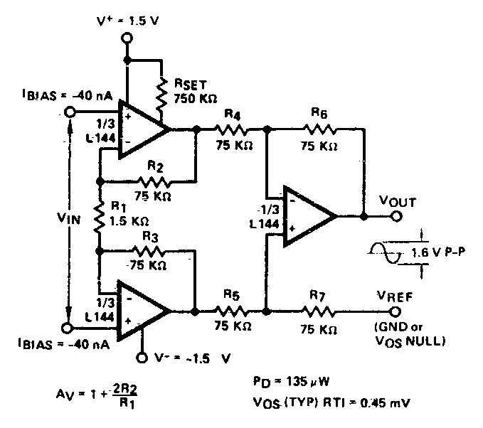 L144 Instrumentation amplifier ~ AmplifierCircuits.com