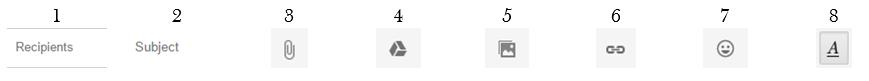 fitur di menu compose pada gmail