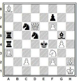 Problema de mate en 2 compuesto por Alex Casa (L'Echiquier de París, 1953)