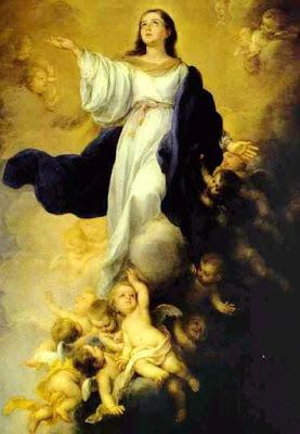 Foto a la pintura de la Virgen de la Asunción a colores