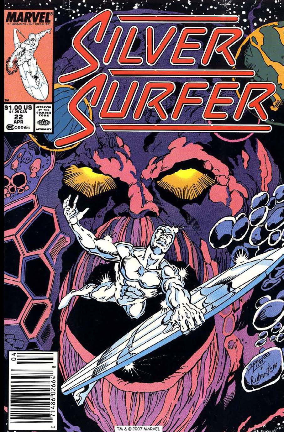Read online Silver Surfer (1987) comic -  Issue #22 - 1