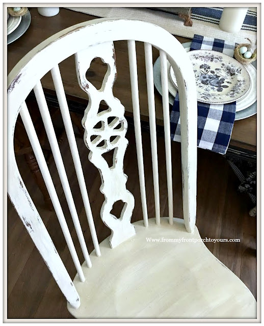 French Country-Farmhouse-Dining Room-Fiddleback Chairs-Chalk Paint-DIY-From My Front Porch To Yours