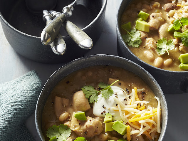 Southern Living's recipe for white chicken chili.  Yum!