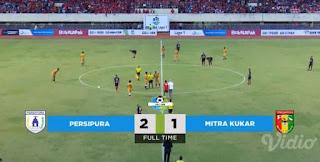 Persipura vs Mitra Kukar 2 - 1 Hasil Liga 1 Sabtu 21 April 2018