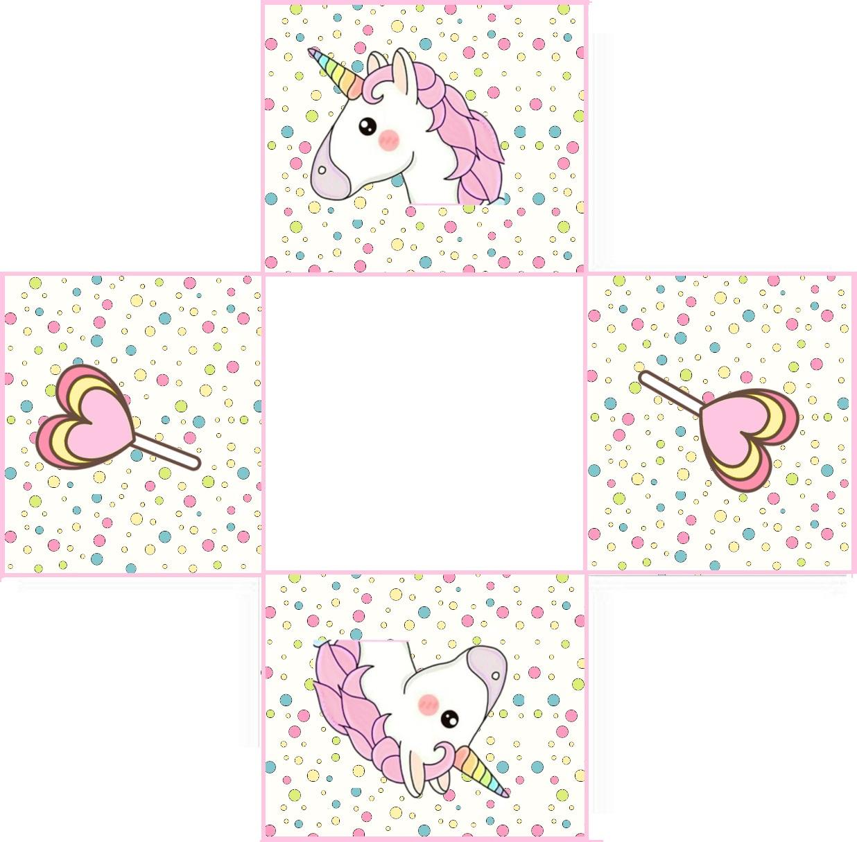 Forminha Quadrada No Tema Unicornio Pronto Para Imprimir