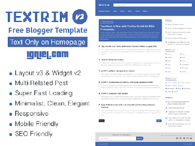 Template Blogger Gratis Textrim by Igniel
