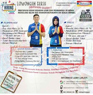 Lowongan Kerja PT. Indomarco Prismatama Cabang Makassar