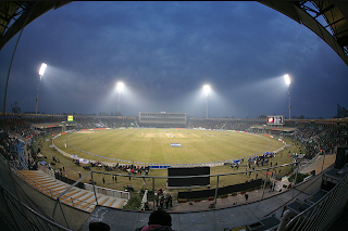 Gaddafi Stadium (Urdu:قذافی اسٹیڈیم) is a cricket ground in Lahore, Pakistan.