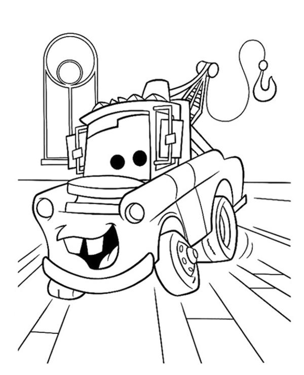 Tranh cho bé tô màu vương quốc xe hơi 3