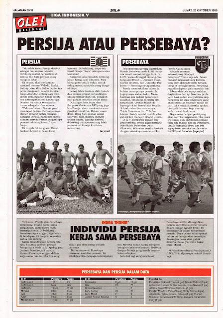 LIGA INDONESIA V PERSIJA JAKARTA ATAU PERSEBAYA SURABAYA