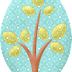 Trees, Leaf and flowers of the Lovely Owls Clipart.