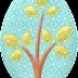 Árboles, Hojas y Flores del Bello Clipart de Búhos Amorosos.