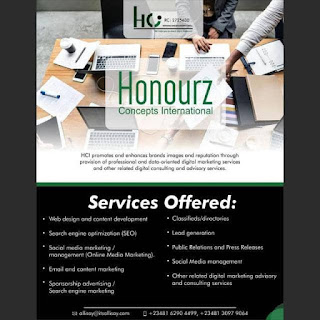 With as low as N30k, HCI @HOnourzConcepts creates astonishing Websites and Blogs