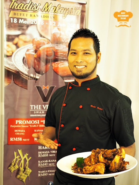 Chef Nabil Md Salleh of the Menu Alam Buffet at The Venue Shah Alam Ramadhan 2018 Buffet Selangor