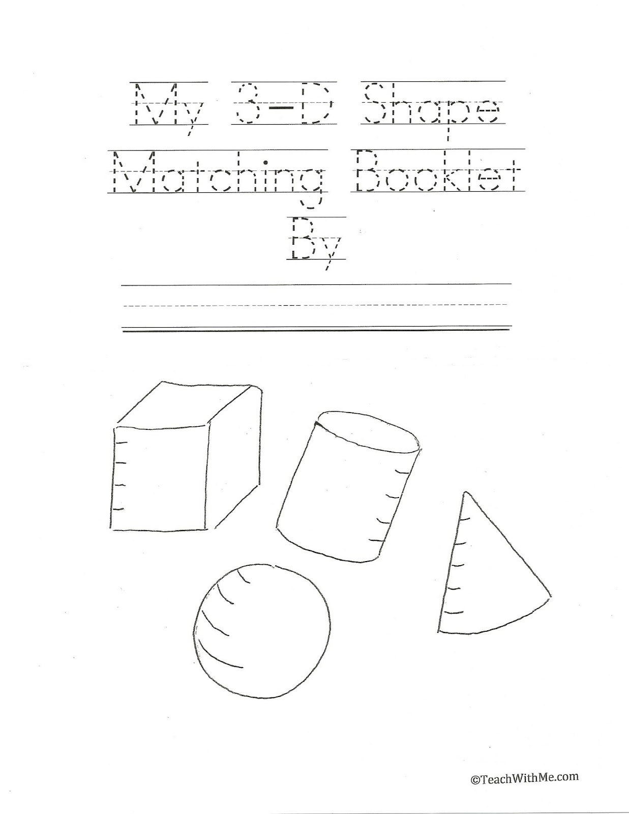 Classroom Freebies 3d Shape Booklet