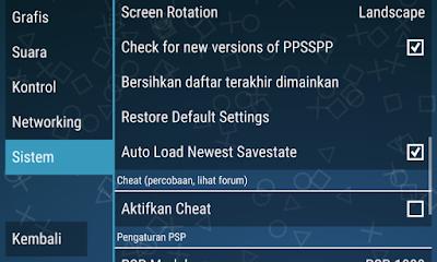 Cara Setting PPSSPP Dengan Benar Di Android