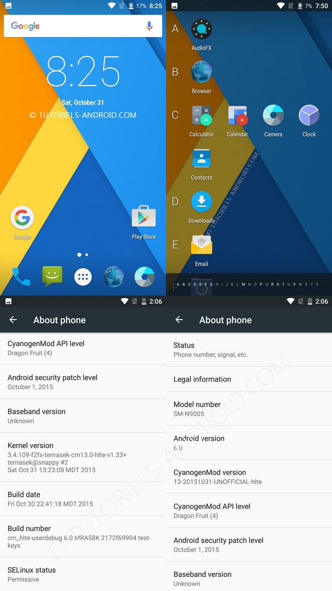 CM13 Android 6.0 pour GALAXY Note 3