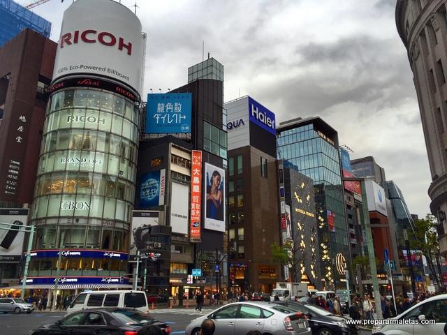 tiendas en Ginza Tokio