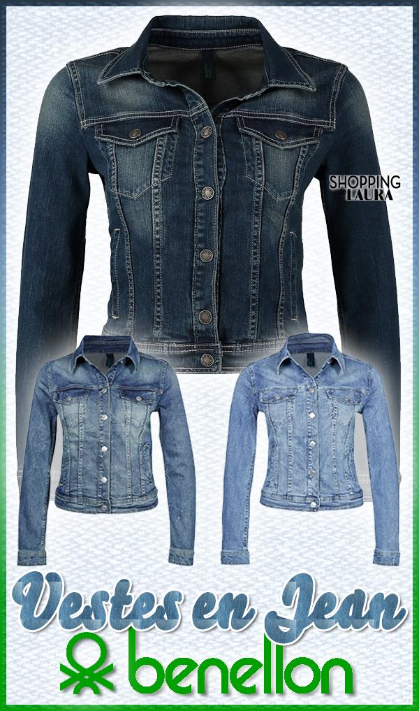 Veste en jean courte et cintrée BENETTON