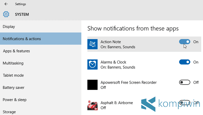 4 Cara Mematikan Notifikasi di Windows 10 9