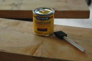 Stain supplies for wall shelf