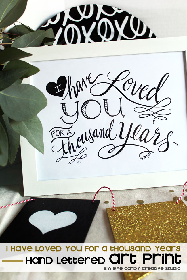 black & gold decor, hand lettering, wedding, valentines, baby, XO
