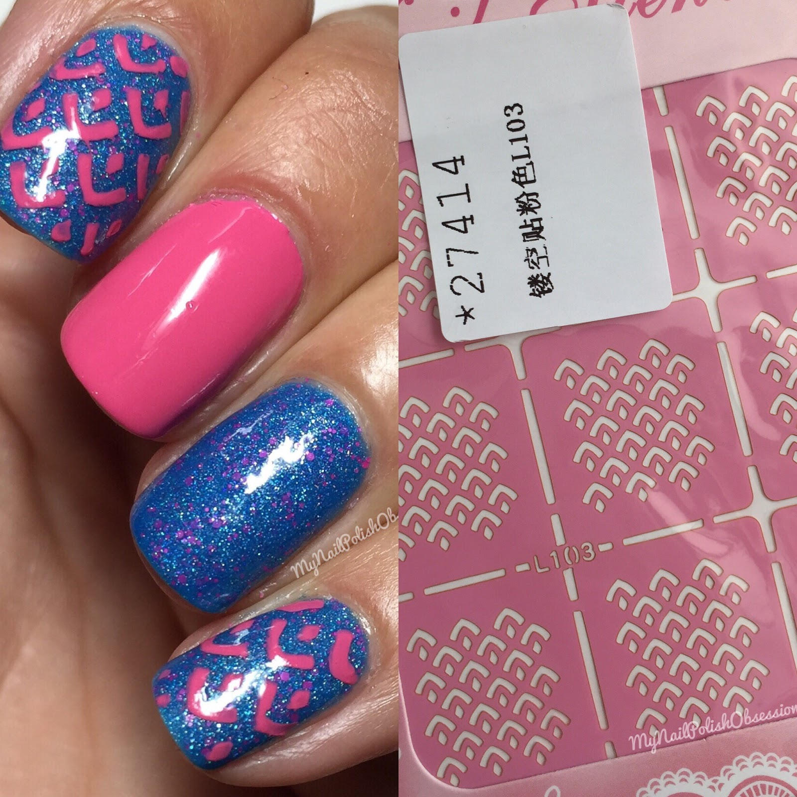 My Nail Polish Obsession: Born Pretty Store: Hollow Nail Art Stencils