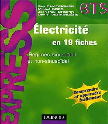ouvrage électricité en 19 fiches  Bts en  PDF