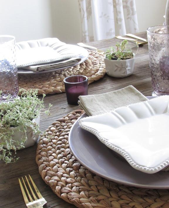 Purple & White Tablescape for the Home