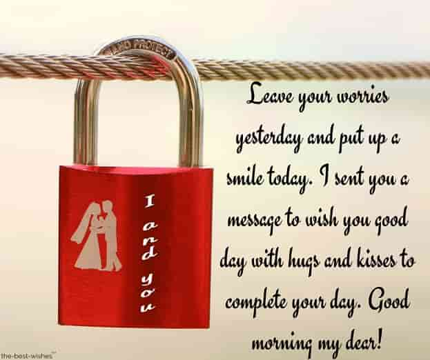 good morning message to my dear husband