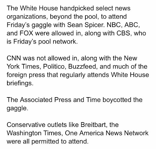 Lord! The White House blocks Multiple Press Outlets from attending the news conference