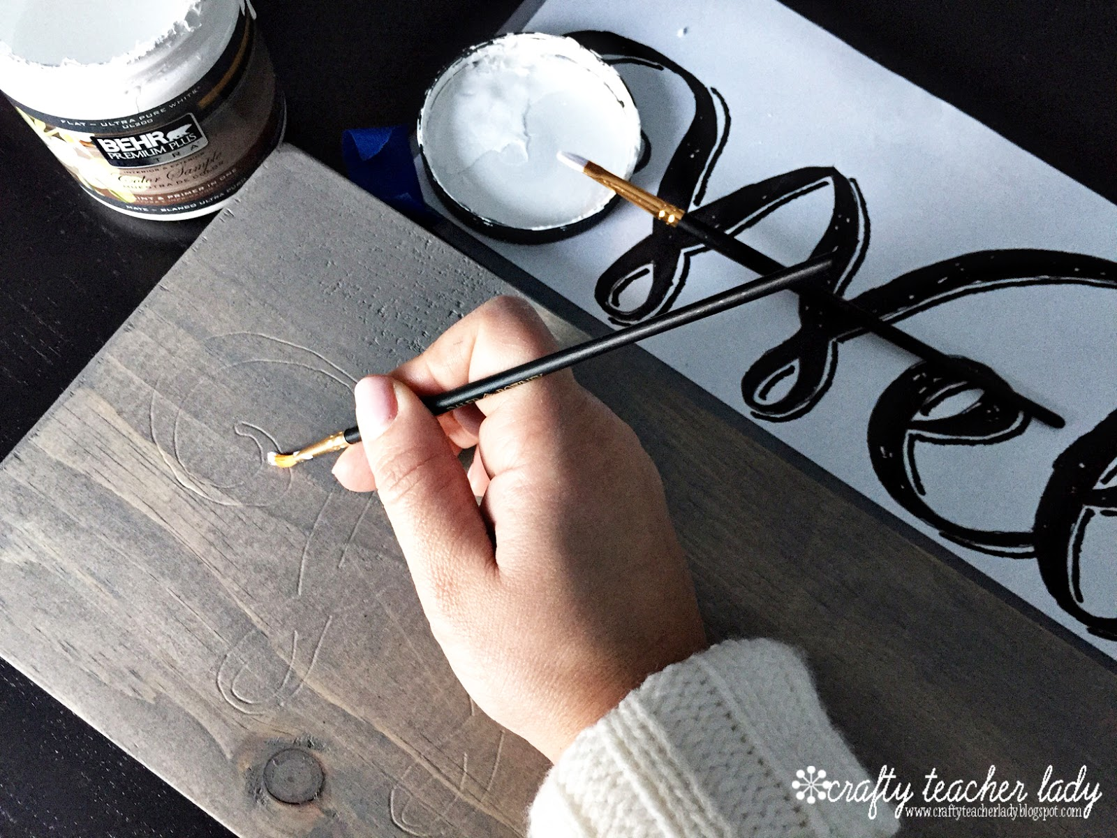 Crafty Teacher Lady Diy Rustic Wood Sign Tutorial
